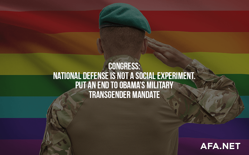 Urge Congress to end military transgender policy