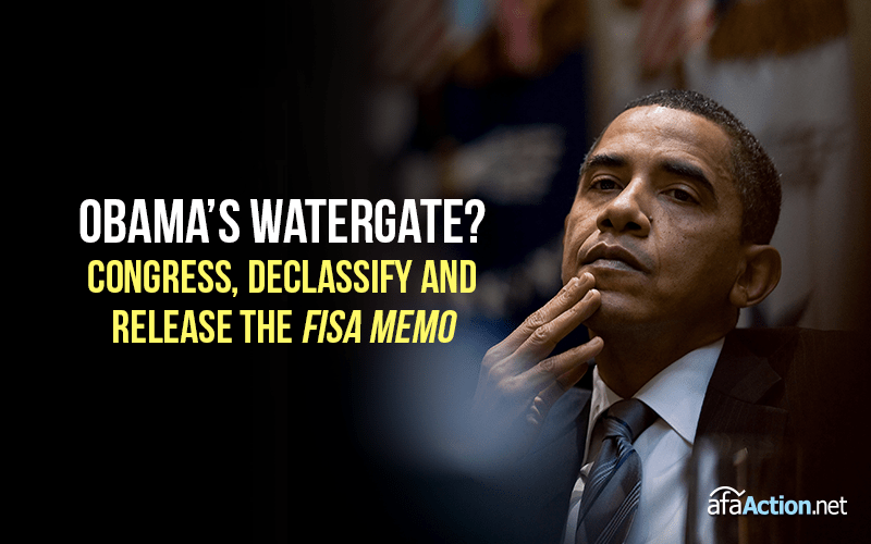 Obama's Watergate? Tell Congress to release the FISA memo