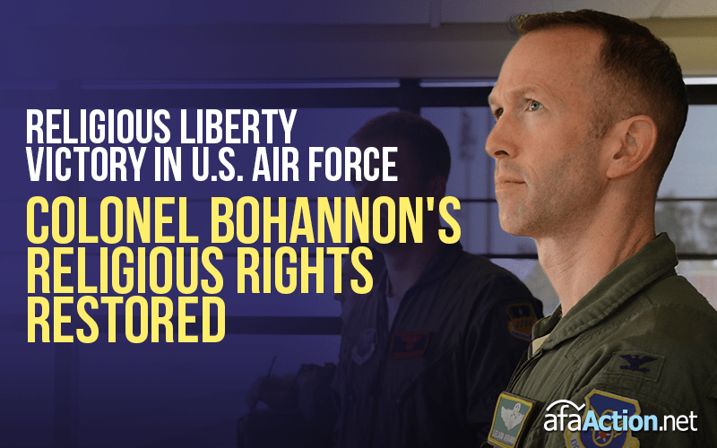 Victory for Religious Liberty in the U.S. Air Force!