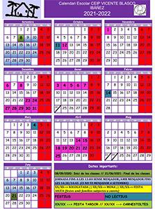Calendario Escolar Elche 2021 2022