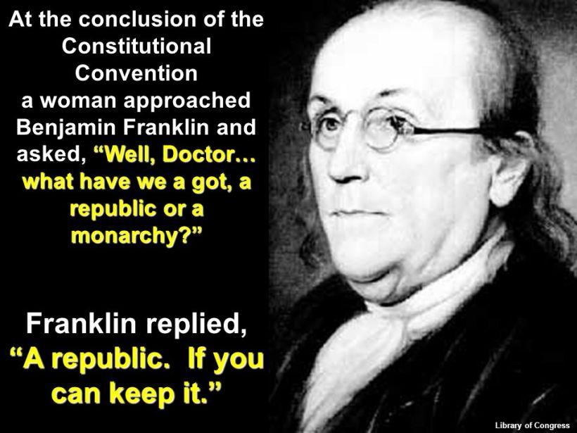 Franklin on Republic