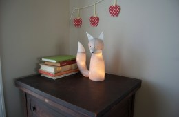 renard peluche lampe