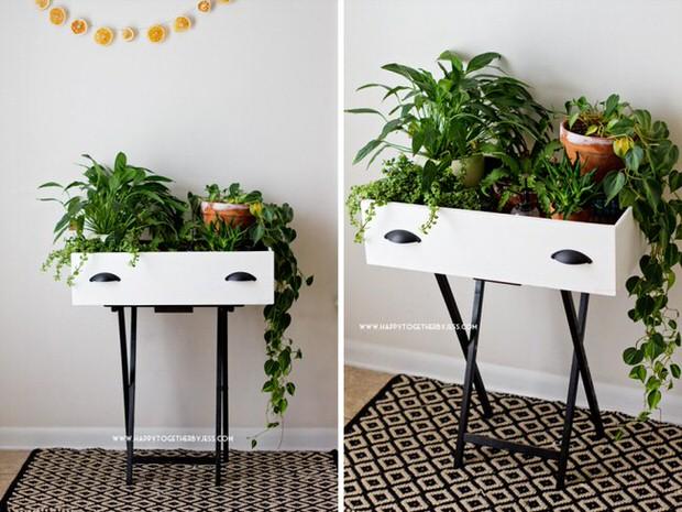 17 id es cr atives pour recycler vos vieux tiroirs en un objet d co pour la maison et le jardin. Black Bedroom Furniture Sets. Home Design Ideas