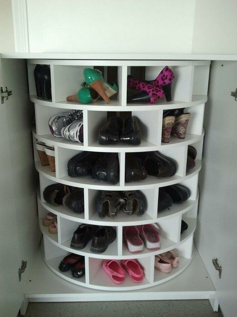 meuble à chaussures tournant