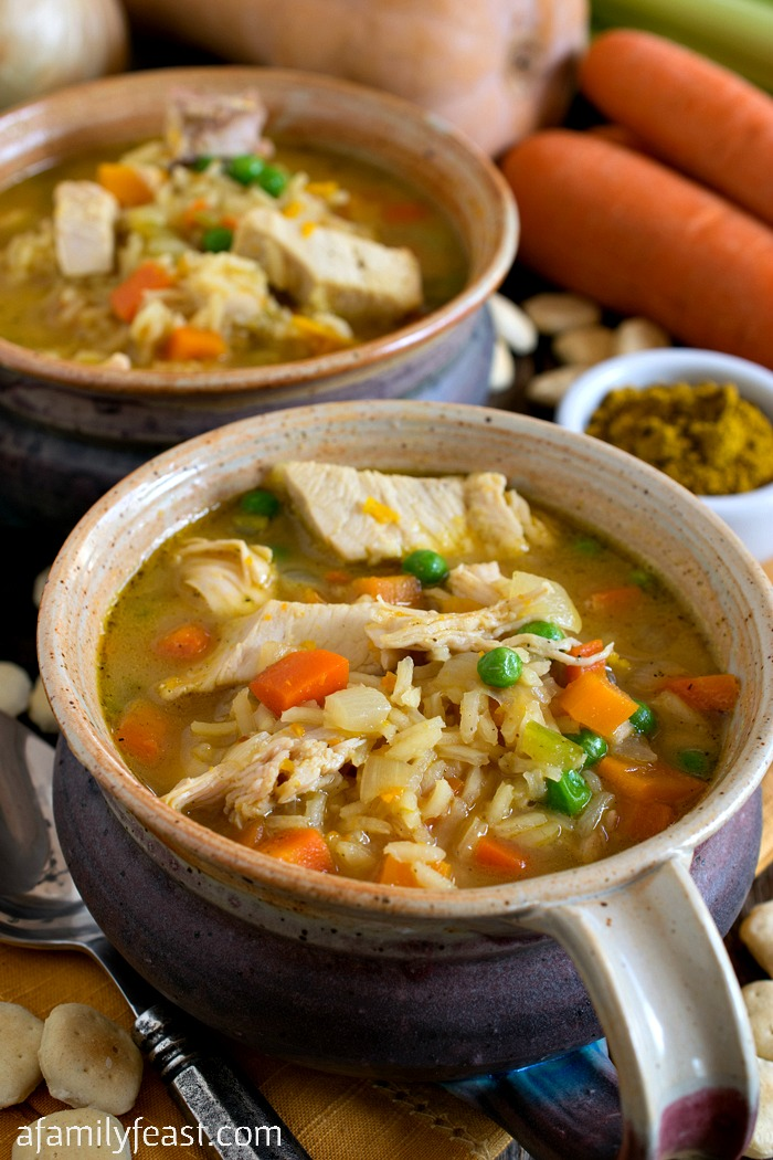 Curried Turkey And Rice Soup A Family Feast