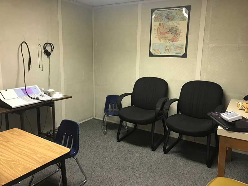 Hearing Booth at the Family Hearing Center Dallas Office