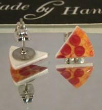 Pizza Stud Earrings - Pepperoni
