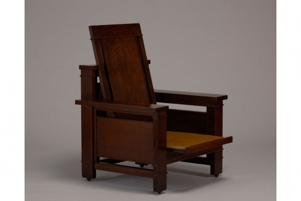 frank lloyd wright chairs powder room chair rail currier museum exhibits recently acquired the s armchair by