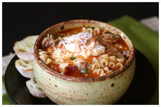 Lasagna Soup - afarmgirlsdabbles.com #lasagna #lasagnasoup