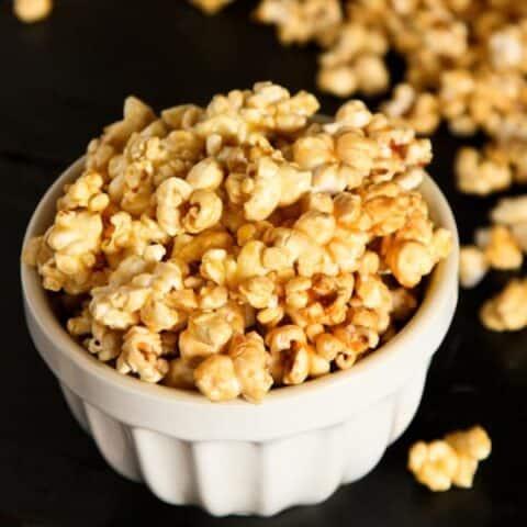 mom s microwave caramel popcorn