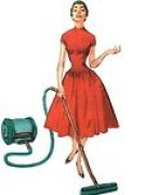 lady vacuuming