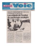 Notre Voie – Les Enfants de l'Institut de Cardiologie Soulages (21mai2017)