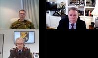 Colonel Jaak Tarien, Brigadier General Armin Fleischmann, Mr. Gurvais Grigg, Mr. Jeffrey Phelan