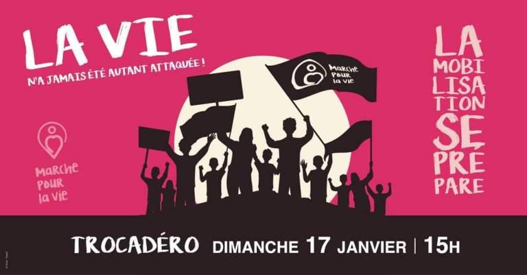 Dimanche 17 janvier à 15h au Trocadéro : la marche pour la vie