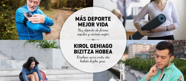 Streming – Más deporte mejor vida – Kirol geiago bizitza hobea – 16 y 17 de octubre a las 19:00h