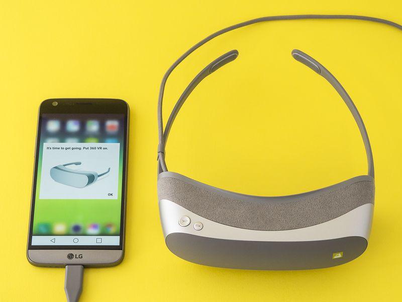 Realtà virtuale LG 360VR setup
