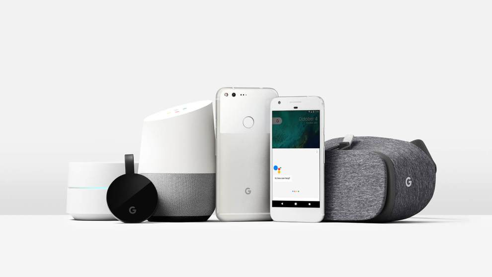 google home pixel family