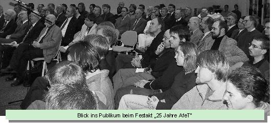 """Blick ins Publikum beim Festakt """"25 Jahre AfeT"""""""