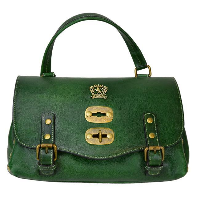 sac cuir vintage tendance femme kaki pratesi