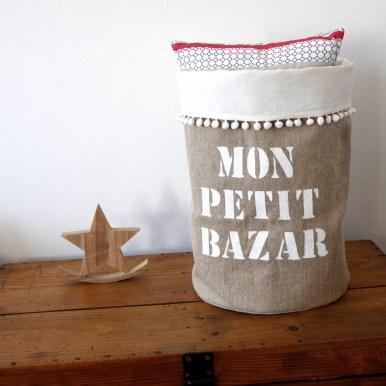 "Grand panier ""Mon petit Bazar"""