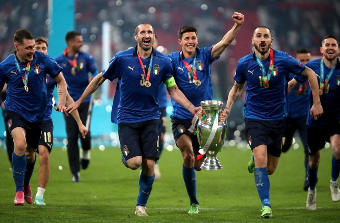 Giorgio Chiellini Leonardo Bonucci Italy Euro 2020