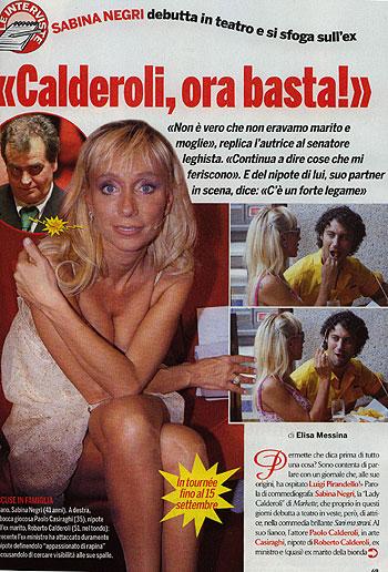 Gossip Calderoli basta replica la ex del coordinatore