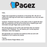 Pagez is Temporarily Offline