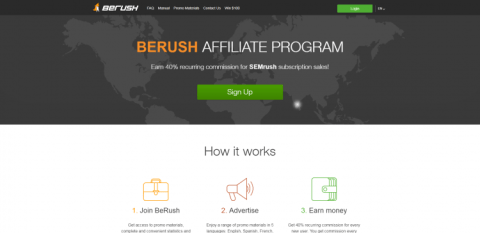 Image result for SEMRUSH/BERUSH - high paying affiliate program.