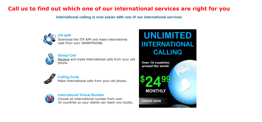 ITP VoIP International Calling