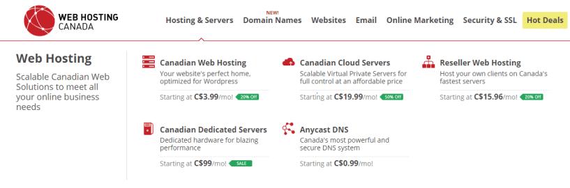 web hosting Canada- Web Hosting Providers InCanada/Toronto
