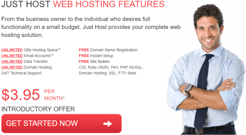 justhost pricing plans- Best Web Hosting Providers In UK