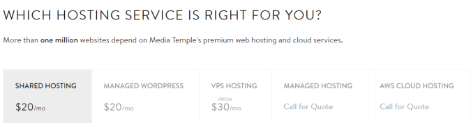 media temple pricing