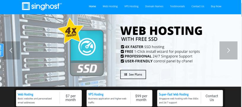 singhost- BestWeb Hosting Service Providers In Singapore