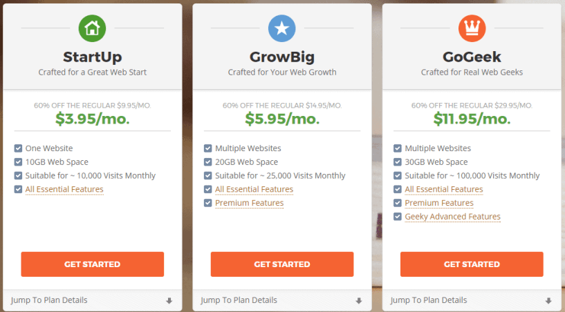 siteground pricing plans- BestWeb Hosting Providers In UK