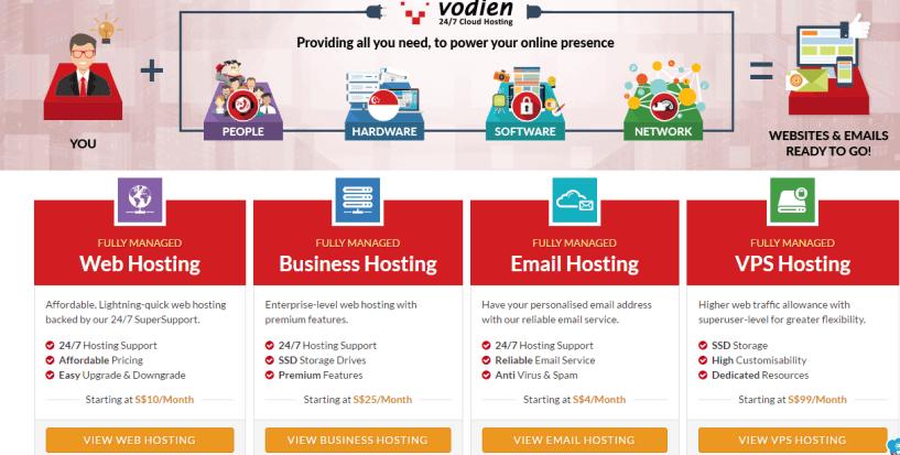 vodien plans- BestWeb Hosting Service Providers In Singapore