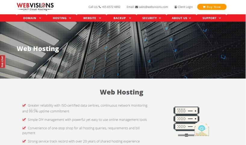 webvisions- Best Web Hosting Service Providers In Singapore
