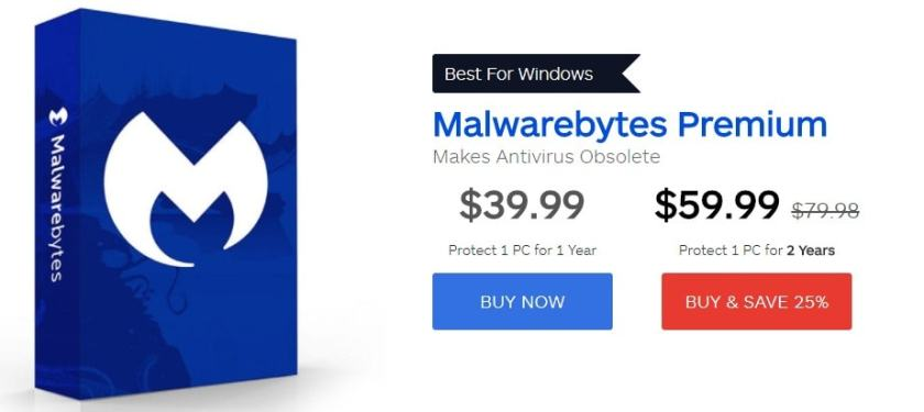Malwarebytes discount coupons - go for the Premium version
