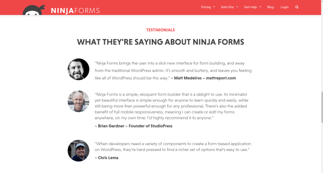 Ninja Forms Coupon Codes Testimonials