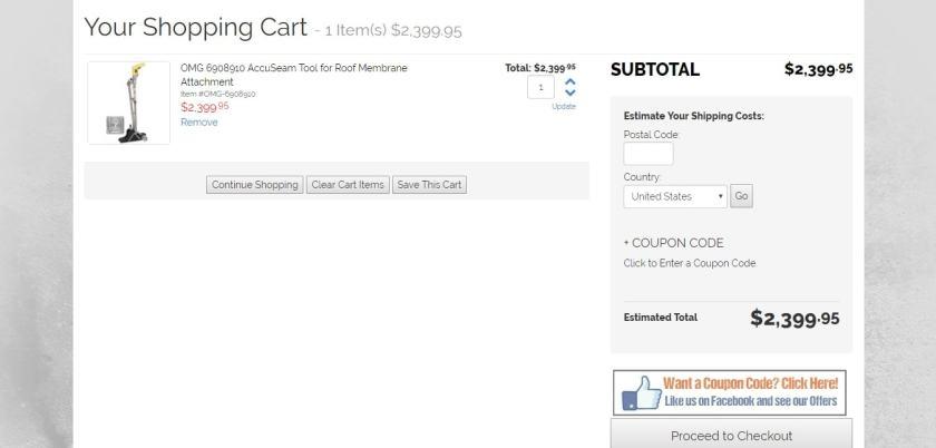 Big Rock Supply Shopping Cart