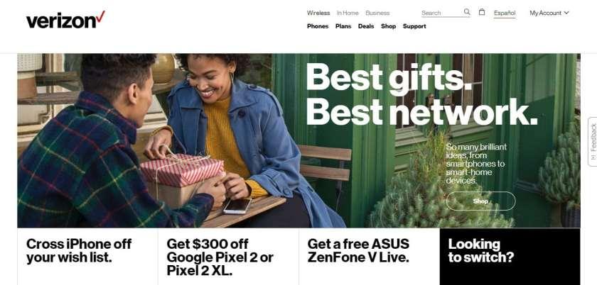 Verizon Best gifts best network