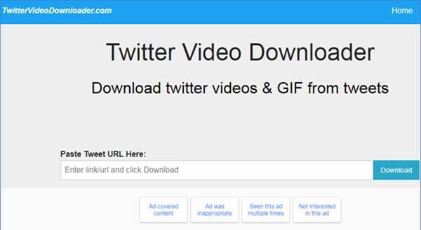 Save twitter videos
