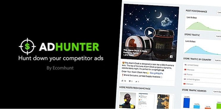 Hunt Down Your Competitor ads - Adhunter - Ecomhunt Coupon Codes