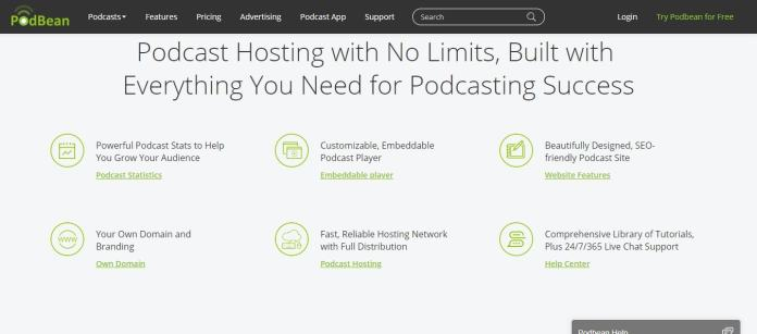 Podbean feature - hosting with no limits