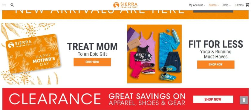 Sierra Trading Post Coupon Codes- Clearance Savings