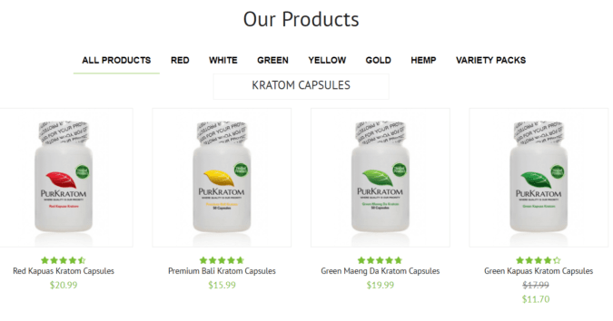 PurKratom Coupon Codes- Products