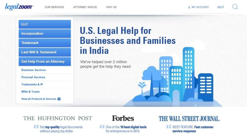 legalzoom-home-page