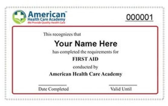 CPR course certification