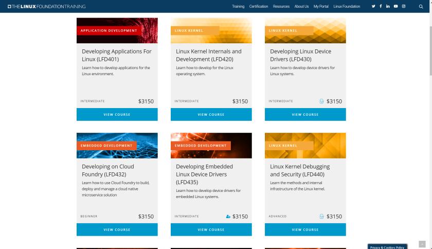 Linux Foundation courses