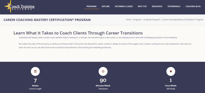 Career Coaching Mastery Certification Program