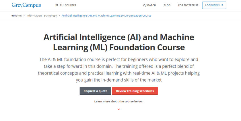 GreyCampus Coupon Codes- Artificial Intelligence AI